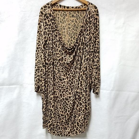 Lane Bryant Tops - Lane Bryant Leopard Print Zipper Detail Blouse